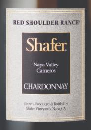 Shafer Vineyards Red Shoulder Ranch Chardonnay 2015 Napa Valley