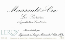 Maison Leroy Meursault 1er Cru Les Perrieres 2008 Cote de Beaune
