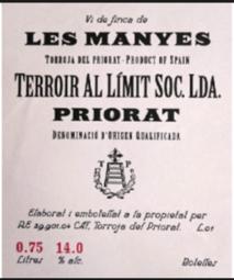 Terroir Al Limit Les Tosses 2015 Priorat