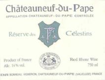 Chateauneuf du Pape Henri Bonneau Reserve des Celestins 2011 Chateauneuf du Pape