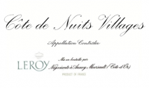 Maison Leroy Cote de Nuits Villages 2012 Cote de Nuits