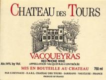 Emmanuel Reynaud, Chateau des Tours Vacqueyras 2009 Cote du Rhone