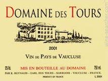 Emmanuel Reynaud, Domaine des Tours Blanc, IGP Vaucluse 2011 IGP Vaucluse