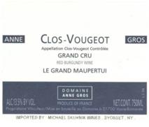 Domaine Anne Gros Clos de Vougeot Grand Cru Le Grand Maupertui 2016 Cote de Nuits