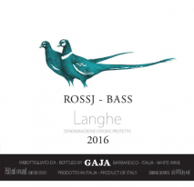 Gaja Chardonnay Rossj & Bass 2017 Piedmonte