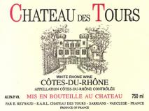 Emmanuel Reynaud, Chateau des Tours Cotes du Rhone Blanc 2014 Cote du Rhone