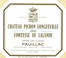 Chateau Pichon Longueville Comtesse de Lalande 2008 Pauillac