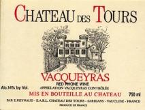 Emmanuel Reynaud, Chateau des Tours Vacqueyras 2011 Vacqueyras