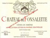 Chateau Rayas, Chateau de Fonsalette Blanc 2009 Cotes du Rhone