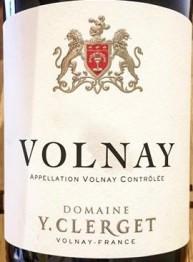 Domaine Yvon Clerget Volnay 2016 Cote de Beaune