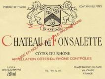 Rayas, Chateau de Fonsalette Blanc 1997 Cotes du Rhone
