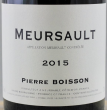 Domaine Pierre Boisson, Meursault 2016 Cote de Beaune