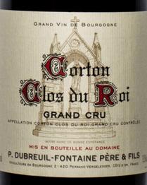 Domaine Dubreuil-Fontaine Pere et Fils, Corton Grand Cru Clos du Roi 2014 Cote de Beaune