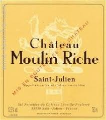 Chateau Moulin Riche (2nd Wine Leoville Poyferre) 1996 St Julien