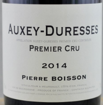 Domaine Pierre Boisson Auxey Duresses 1er Cru Rouge 2014 Cote de Beaune