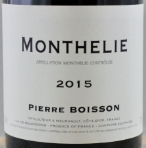Domaine Pierre Boisson, Monthelie 2014 Cote de Beaune