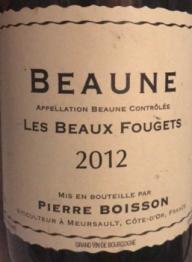 Domaine Pierre Boisson, Beaune Les Beaux Fougets 2011 Bourgogne