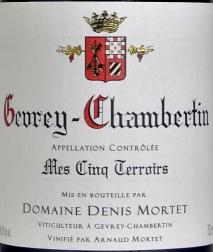Domaine Denis Mortet Gevrey-Chambertin 1er Cru, Mes Cinq Terroirs 2016 Cote de Nuits