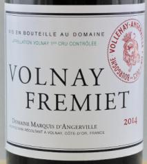 Domaine Marquis d'Angerville, Volnay 1er Cru Fremiet 2011 Cote de Beaune