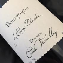Domaine Cecile Tremblay, Bourgogne la Croix Blanche 2016 Cote de Beaune