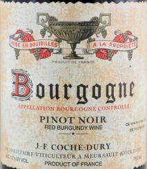 Domaine Coche-Dury Bourgogne Rouge 2015 Cote de Beaune