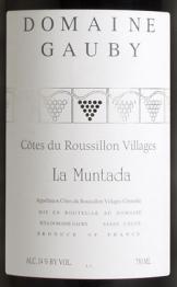 Domaine Gauby, Muntada 2014 Cotes du Roussillon Villages