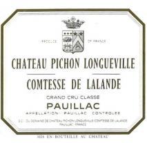 Chateau Pichon Longueville Comtesse de Lalande 2018 Pauillac
