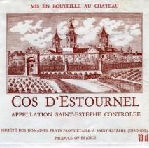 Chateau Cos d'Estournel 2018 St Estephe