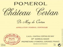 Chateau Certan De May 2018 Pomerol