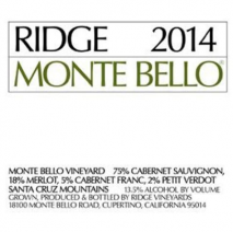 Ridge Monte Bello 2018 California