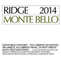 Ridge Monte Bello 2018 California
