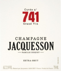 Jacquesson Cuvee 741 Extra Brut 0 Champagne
