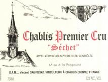 Domaine Rene et Vincent Dauvissat, Chablis 1er Cru Sechets 2012 Chablis