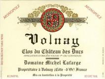 Domaine Michel Lafarge, Volnay 1er Cru Clos du Chateau des Ducs 2013 Cote de Beaune