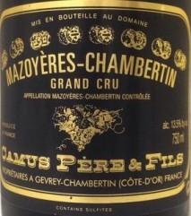 Camus Pere & Fils Mazoyeres-Chambertin Grand Cru 2006 Cote de Nuits