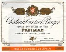 Chateau Croizet Bages 1990 Pauillac