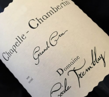 Domaine Cecile Tremblay Chapelle Chambertin Grand Cru 2013 Cote de Nuits