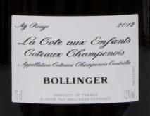 Bollinger La Cote aux enfants 2012 Champagne