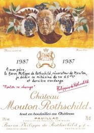 Chateau Mouton Rothschild 1987 Pauillac