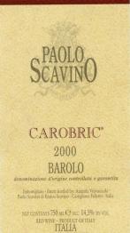 Paolo Scavino Carobric 2001 Barolo