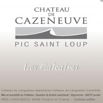 Chateau de Cazeneuve Pic Saint-Loup Les Calcaires 2009 Pic Saint Loup