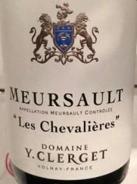 Domaine Yvon Clerget Meursault Les Chevalieres 2017 Cote de Beaune