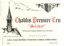 Domaine Rene et Vincent Dauvissat, Chablis 1er Cru Sechets 2011 Chablis 1er Cru