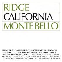 Ridge Monte Bello 2001 California