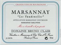 Domaine Bruno Clair, Marsannay Les Vaudenelles 2015 Cote de Nuits