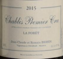 Domaine Bessin, Chablis 1er Cru Foret 2015 Chablis