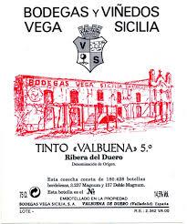 Vega Sicilia Valbuena 5 Reserva 2015 Ribera del Duero