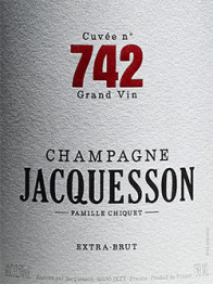 Champagne Jacquesson, Cuvee 742 Extra Brut 0 Champagne