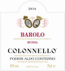 Aldo Conterno Barolo Colonnello 2016 Barolo