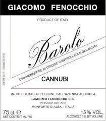 Giacomo Fenocchio Barolo Cannubi 2016 Barolo